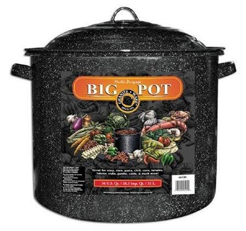 Granite Ware 6127-1 50-Quart Stock Pot, Black