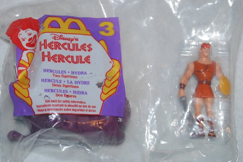 McDonalds Happy Meal 1996 Hercules and Hydra Figures #3 - 1