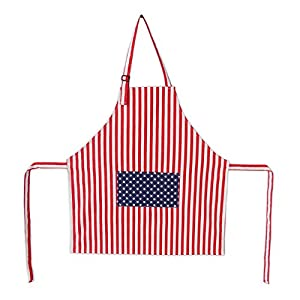 American Flag Kitchen Bib Apron with Pocket - 4th of JULY SALE - Patriotic Cooking Apron... by The Kitchen Haven