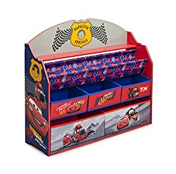 Delta Children Deluxe Book & Toy Organizer, Cars