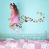 Walplus Tm Schmetterlinge Wandsticker - Heimtextilien, 120cm x 70cm- PVC-Entfernbarer- Transparent Grenzen- Selbstklebend- Multi-Color