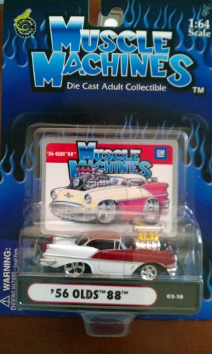 Muscle Machines 56 Olds 88 candy apple red/white 03-10