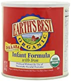 Earth's Best Organic Infant Formula with Iron, DHA & ARA,  23.2 Ounce Canisters (Pack of 4)