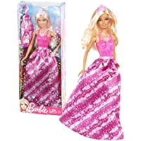 "Mattel Year 2012 Barbie ""Fashion Meets Fairytale"" Series 12 Inch Doll Set Barbie As Princess (X9440) In Pink Gown..."