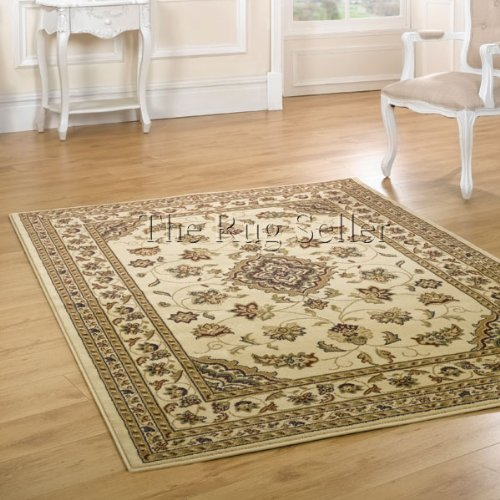 Flair Rugs Sincerity Sherborne Rug, Beige, 60 x 110 Cm