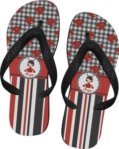 Ladybugs & Stripes Flip Flops - Large front-648714