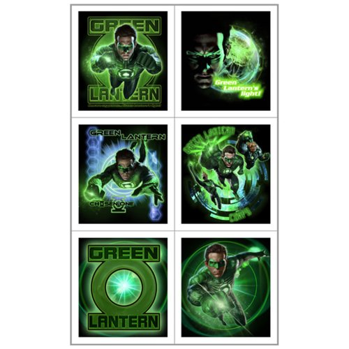 Green Lantern Stickers (4 sheets) - 1