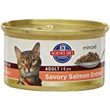 Hill's Science Diet Adult Optimal Care Savory Salmon Entree Minced Cat Food, 3-Ounce Can, 24-Pack
