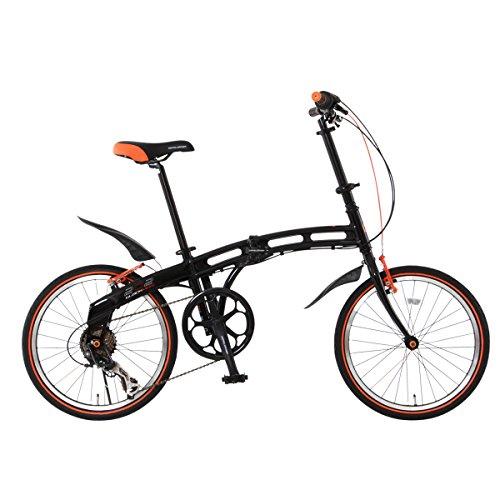 DOPPELGANGER(ドッペルギャンガー) 折りたたみ自転車 BLACKMAXシリーズ BLACKMAX 202 20インチ パラレルツインチューブフレーム採用モデル