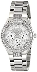 GUESS Viva Analog Silver Dial Womens Watch - W0111L1