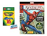 Spider-man Coloring & Activities Book and 16 Crayola Crayons Box (Pack of 2)