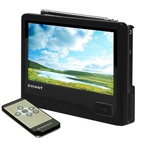 Eviant T7 7-Inch Handheld LCD TV, Black