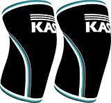 kasp knee sleeves 7mm neoprene support brace designed for weightlifting cross training powerlifting  crossfit injury prevention  recovery exercise  workout aid for men  women