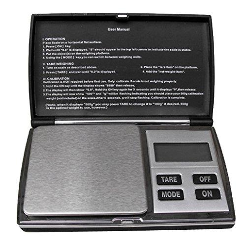 Weiheng WH-DS08B 1000g/0.1g Mini Balance de bijoux - Balance de haute précision Numérique Portable - Idéale pour peser de l'or, l'argent,bijoux, etc