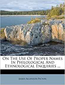 On The Use Of Proper Names In Philological And
