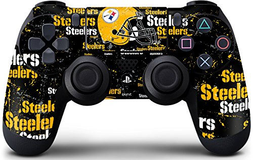 NFL - Pittsburgh Steelers - Blast Dark Skin for PlayStation 4 / PS4 DualShock4 Controller from SteelerMania