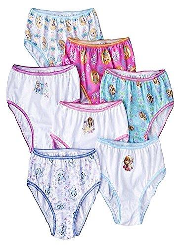 Disney Girls' Frozen Underwear 7Pk front-820551