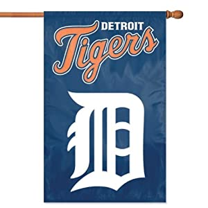 MLB Detroit Tigers Applique Banner Flag by Party Animal
