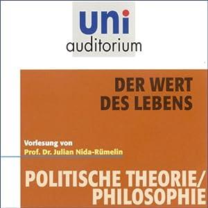 Der Wert des Lebens (Uni-Auditorium) Hörbuch