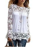 Zeagoo Femmes Mode coréenne mousseline de soie Slim Top manches longues T-shirt Blouse...