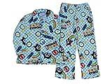 きかんしゃトーマス (110/格子/総柄) パジャマ サイズ100~120cm ふわもこパジャマ キッズ 子供 あったか トーマス トミカ (110)