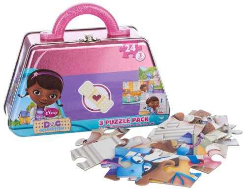 Disney Doc McStuffins 3 Puzzle Pack Tin