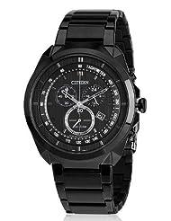 Citizen Eco-Drive Analog Black Dial Men's Watch AT2155-58E