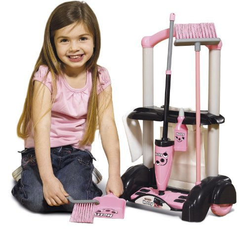Casdon Hetty Cleaning Trolley With Cloth Broom Brush