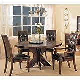 Modus Furniture Hudson Round X Base Dining Table, Mocha