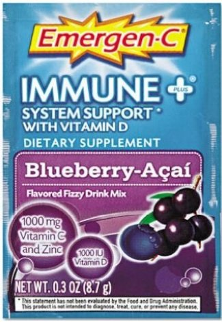 Alacer Emergen-C Immune Plus System Support With Vitamin D Blueberry Acai -- 30 Packets ( Multi-Pack)