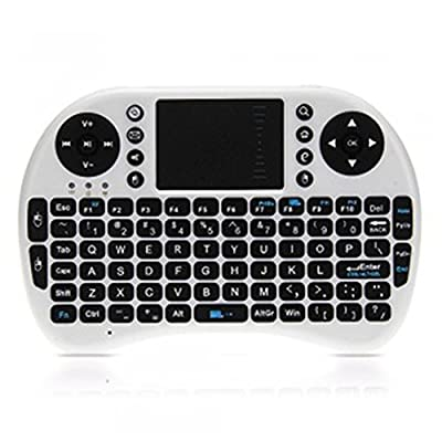 WIWIONN QWERTY 2.4Ghz USB Wireless Mini Keyboard Touchpad with Mouse for PC Android TV Box PS3 XBOX 360 and HTPC IPTV White