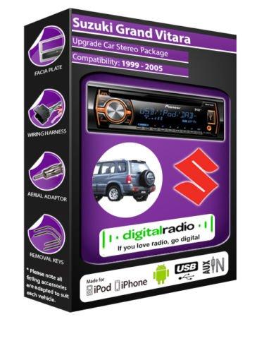 Suzuki Grand Vitara avec Radio Dab autoradio Pioneer-Deh-X6500Dab avec antenne Radio Dab