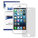 Halo Screen Protector Film High Definition (HD) Clear (Invisible) for iPhone 5 / 5S / 5C [3 Pack] - Lifetime Replacement...