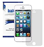 Halo Screen Protector Film High Definition (HD) Clear (Invisible) for Apple iPhone 5 5G LTE (3 Pack) with Lifetime Replacement Warranty