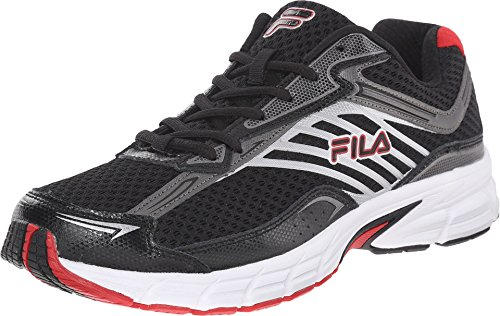 Fila Men's Xtenuate Black/Dark Silver/Fila Red Sneaker 11.5 D (M)
