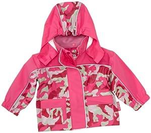 Playshoes Regen-Mantel Camouflage 408552 - Chaqueta impermeable, con cuello con capucha, unisex