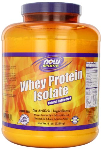 Now Foods NOW Foods Whey Protein Isolate, 100% Pure 5Lb (Packaging May Vary)