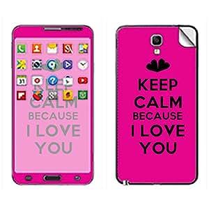 Skintice Designer Mobile Skin Sticker for Samsung Galaxy Note 3 Neo, Design - Keep Calm Because I LOVE YOU