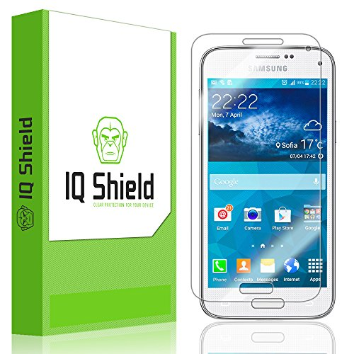 Iq Shield Liquidskin - Samsung Galaxy S5 Mini Screen Protector With Lifetime Replacement Warranty - High Definition (Hd) Ultra Clear Smart Film - Premium Protective Screen Guard - Extremely Smooth / Self-Healing / Bubble-Free Shield - Kit Comes In Frustra