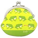 がま口 2.6寸 カエル 財布 小銭入れ グリーン 日本製 ハンドメイド 蛙