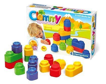 Clementoni - 14706 - 12 Soft Blocks Set
