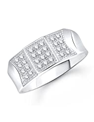 Meenaz Solitaire Ring Valentine Love Silver Ring For Girl And Women In American Diamond CZ FR297