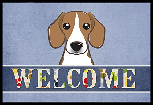 Caroline's Treasures BB1425JMAT Beagle Welcome Indoor or Outdoor Mat, 24 x 36