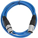 SEISMIC AUDIO - SAXLX-6 - 6' Blue XLR Male to XLR Female Patch Cable - Balanced - 6 Foot Patch Cord from Seismic Audio Speakers, Inc.