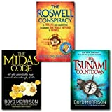 Boyd Morrison Boyd Morrison Collection 3 Books Set, (The Roswell Conspiracy, The Midas Code & The Tsunami Countdown)