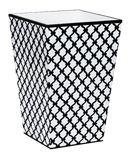 Mememall Fashion Trash Can Garbage Can Bathroom Accessories Sets Black and White Decor (Zebra Print Garbage Can compare prices)