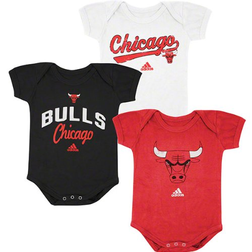 Chicago Bulls Newborn 3 Piece Creeper Set 3/6 Months at Amazon.com