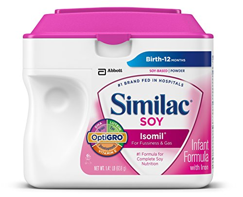 Similac Soy Isomil Infant Formula with Iron, Powder, 1.45 Pounds (Pack of 6) (Packaging May Vary)