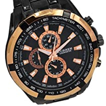 CURREN Luxury Black Stylish Unisex Men Sports Style Wrist Watch