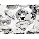 "Acrylic Crystal Diamond Confetti Table Scatter 3/4"" 1 lb. Bag Clear"